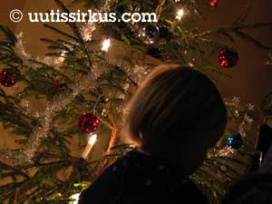 Joulupuu välkehtii