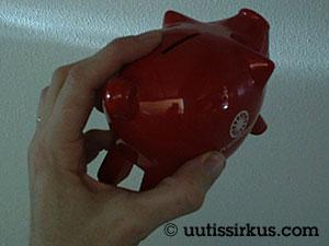 Säästöpossu, punainen, Postipankin