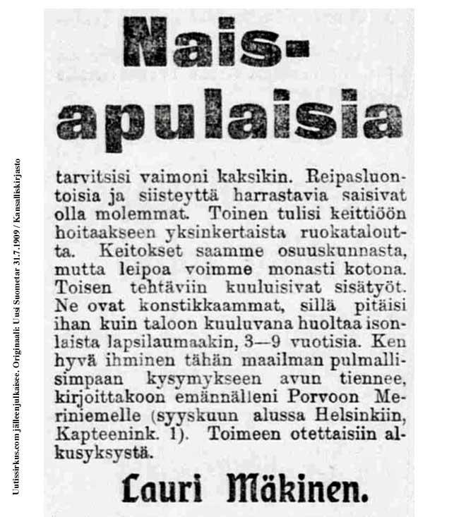 Naisapulaisia_Uusi_Suometar_1909_07_31_20140805