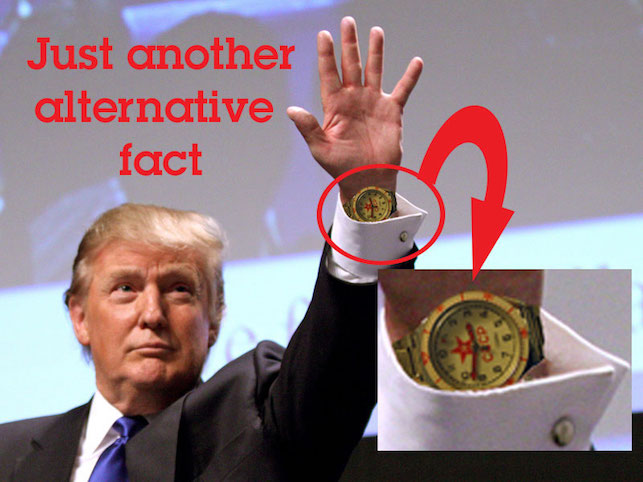 Donald has an interesting watch with the Soviet stars and the letters CCCP