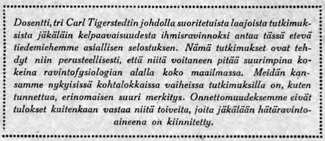 Poronjäkälä ei vastaa toiveita, selviää Suomen Kuvalehdestä 5.1.1918