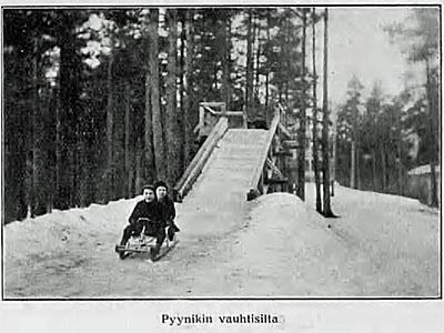 Pyynikin vauhtisilta, Suomen matkailulehti 1.4.1914 / Kansalliskirjasto