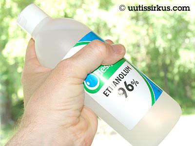etyylialkoholipullo, 96%