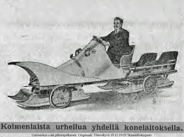 Lentävä automobiilireki Yhteishyvä-lehdessä 19.11.1915