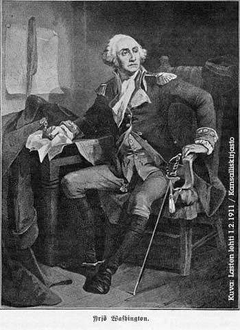 Yrjö Washington Lasten lehden piirroskuvassa