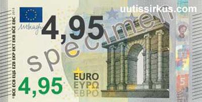 euroseteli, arvo 4,95 euroa